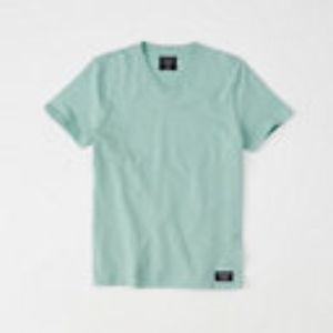 Abercrombie & Fitch Shirts - Abercrombie & Fitch Mint Green V-neck Tee